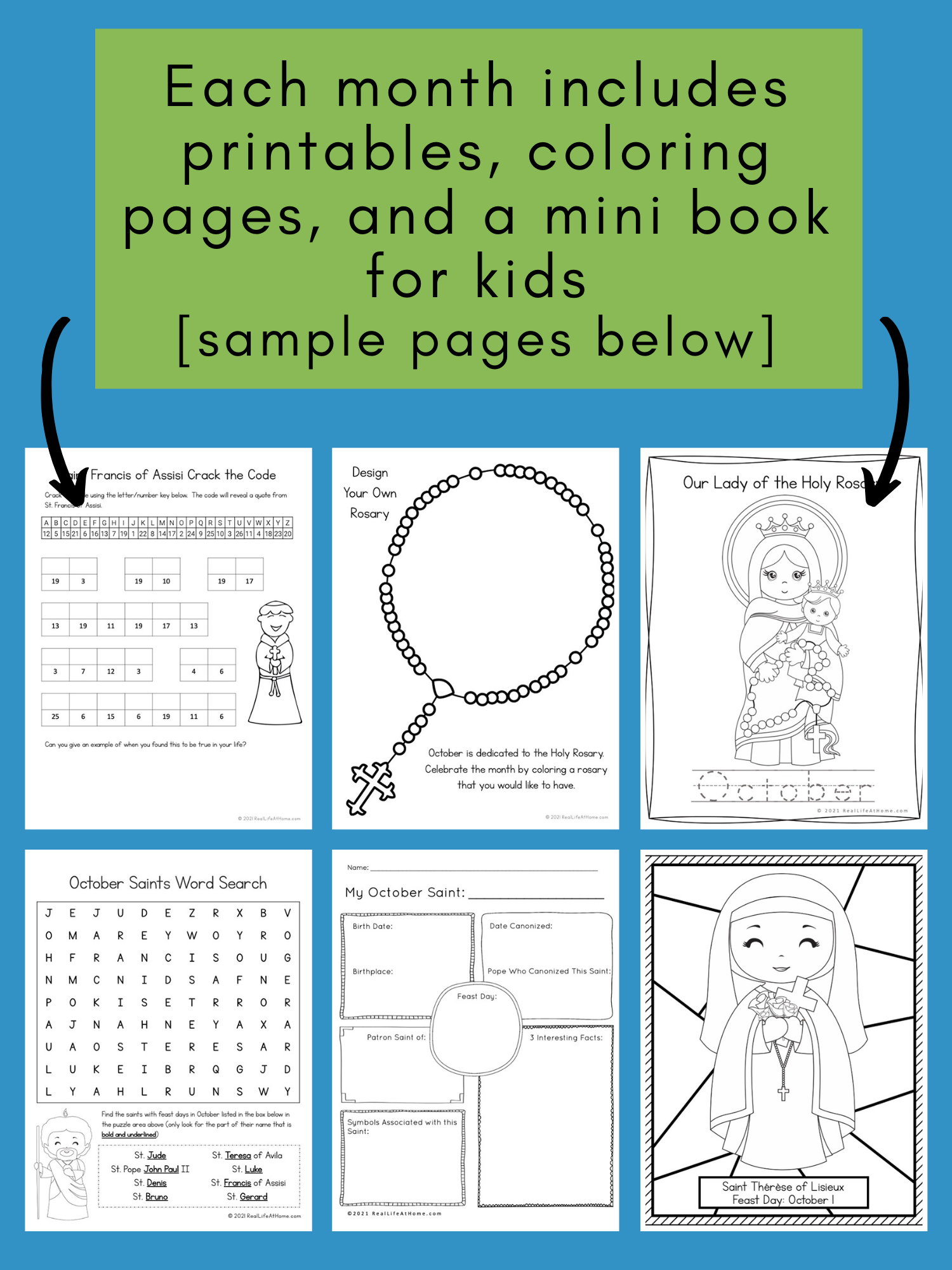 Catholic Icing Monthly Pack Kids Printables