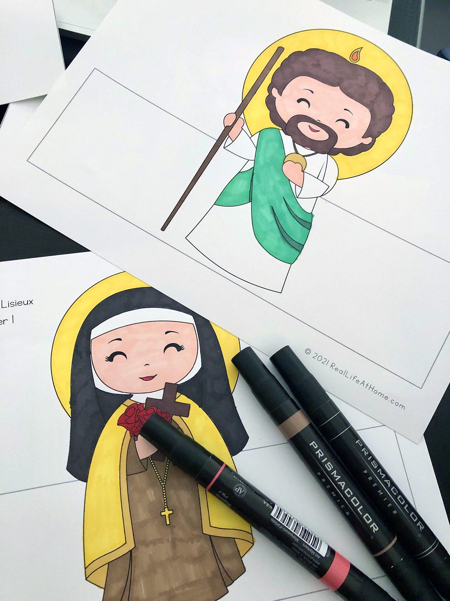 St Jude and St Therese of Lisieux Craft